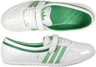 adidas Concord Round white/green Gr 39 weiß ballerina