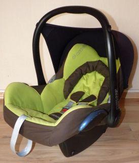 Maxi Cosi Cabrio Fix Kindersitz Babyschale in der Farbe Grün Braun