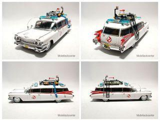 Ecto 1, Cadillac 1959 Ambulance, Modellauto 143, Hot Wheels, Elite