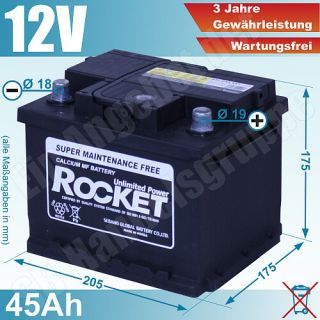 Rocket Unlimited Power Calcium Batterie Starterbatterie