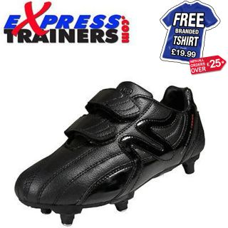 Mitre M2 Sport SI Junior Boys Screw In Velcro Football Boots