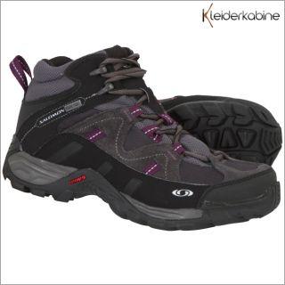 Salomon Campside Mid GTX Damen Schuhe Schwarz Gore Tex Boots Stiefel