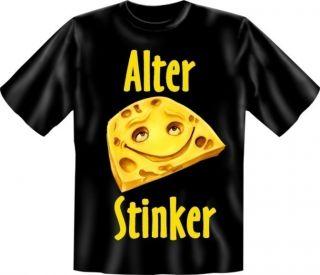 Shirt bedruckt Geburtstag   Alter Stinker   Fun Shirt Funshirt