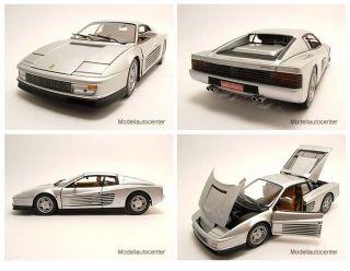 Ferrari Testarossa silber, Modellauto 118 / Mattel   Hot Wheels