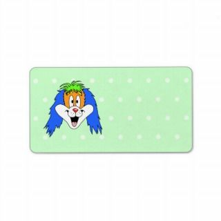 Fun Bright and Colorful Dog Cartoon. Custom Address Labels