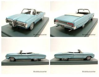 Pontiac Bonneville Cabrio 1968 blau Modellauto 143 Neo
