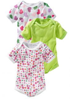 NEU 3 er Pack Baby Bodys Größe 56 62 Bodies Baumwolle