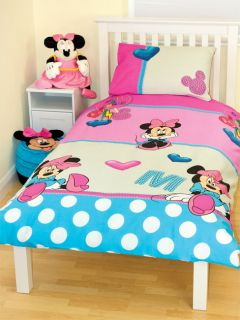 DISNEY MINNIE MOUSE PRETTY 66 x 72 CURTAINS NEW matches duvet