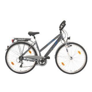 Texo Damen Trekking Fahrrad 71,1 cm (28 Zoll), Alu, gefedert, 24 Gang