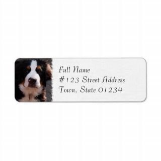 Bernese Mountain Dog Breed Address Label