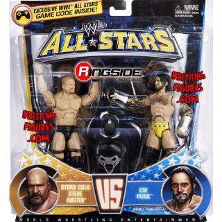 Stone Cold Steve Austin vs. CM Punk WWE All Stars Figuren Set