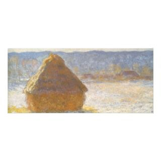 Grainstack in Morning, Snow Effect by Claude Monet Full Color Rack