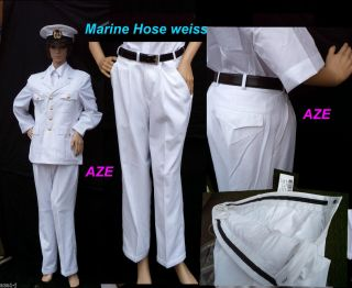 NEUE, BW MARINE Navy Offizier Uniform Hose weiss ,Kapitän,Titanic