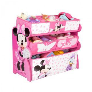 Disney Minnie Mouse Multi Toy Organizer fuer Spielzeug aus Holz