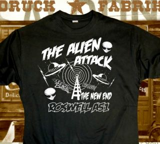 Alien Area 51 Roswell UFO T Shirt,Mars Attack,Hotrod,Rockabilly