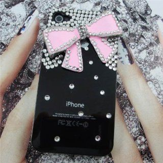 Luxus 3D Bling Strass Kristalle Bow Hard Case Hülle für Apple iPhone