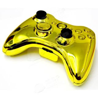 For Xbox 360 Wireless Controller Replace Chrome Gold Housing/Shell