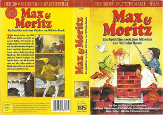 VHS) Max und Moritz   Harry Wüstenhagen, Edith Elsholtz, Erika