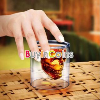 4Pcs Creative 75ml Clear Shot Glass Crystal Skull Head Vodka Wine Cup