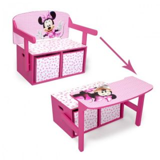 Disney Minnie Mouse 3in1 Kindertruhenbank Kindertisch Kindersitzbank