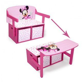 Disney Minnie Mouse 3in1 Kindertruhenbank Kindertisch Kindersitzbank