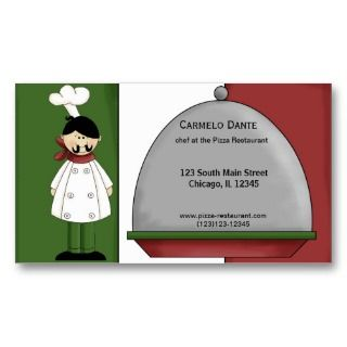 Chef Kitchen Design on Http   Www Zazzle Com Food Chef Cooking Business Card Templates 240093