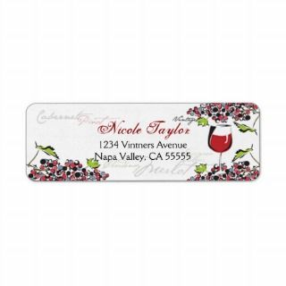 Wine Lover Address Label   Small