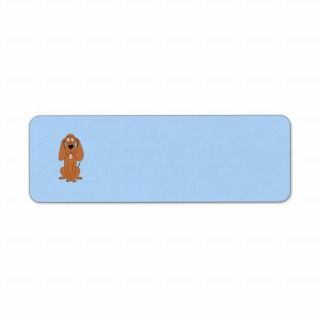 Brown Dog Cartoon. Hound. Custom Return Address Label