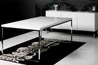 Design Schreibtisch   POPULAR   hochglanz weiss Lack 140cm Tisch