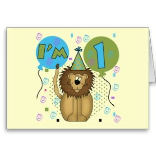 Cards, Note Cards and Baby First Birthday Greeting Card Templates