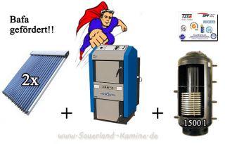 Solaranlage 9,84 qm Holzvergaser Atmos DC 25 GSE Kombispeicher