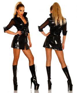 Lack Jacke Hot Minikleid Gothic GoGo Wet Look Fetisch