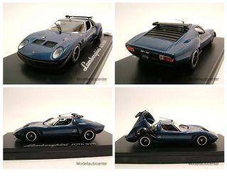 Lamborghini Jota SVR blau metallic, Modellauto 143 / Kyosho