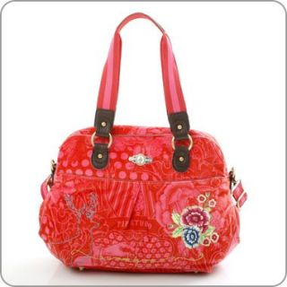 Pip Studio Tasche   Wallpaper Velvet   Carry All Rot +++ PB10W62