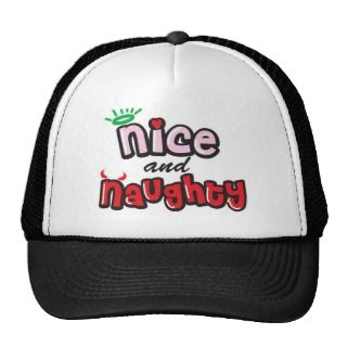 Nice and Naughty Holiday Gift Mesh Hats