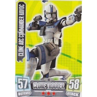 Topps Force Attax serie 2 Card 44 CLONE ARC COMMANDER HAVOC (The