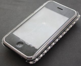 iPhone 3G 3GS STRASS Cover Hard Case BLING GLITZER leo