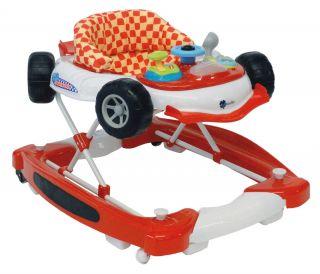 Baby Walker/Lauflernhilfe Car m. Wippfunktion+Musik,Rot