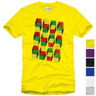 Vintage Cube´s T Shirt Sheldon Würfel Big Bang Theory Rubik Meltig