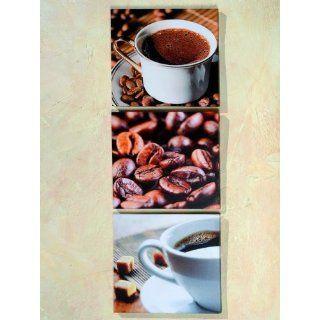 3er Set Bild Bilder *naturell* Kaffee Cafe Coffee 28cm