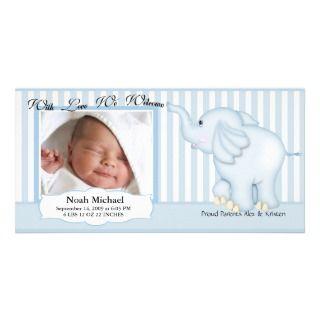 Nacimiento dulce del bebé del elefante tarjetas personales de