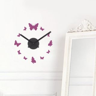 Wandtattoo 12 Schmetterlinge   Wanddeko Uhren Wanduhr Deko Wandsticker