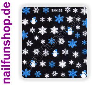 3D Design Nail Sticker SN 103 Christmas Nagelsticker selbstklebend