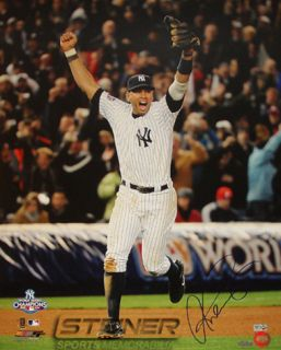 Alex Rodriguez 2009 WS Running on the Field Celebration Vertical Photo