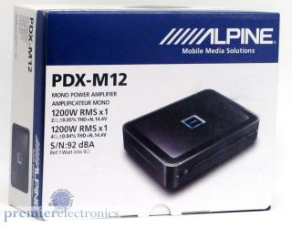 ALPINE PDX M12 CLASS D 1200W MONO POWER AMPLIFIER