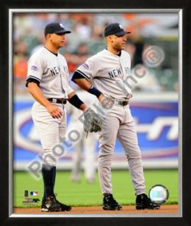 Alex Rodriguez & Derek Jeter 2008 Action Framed Photographic Print
