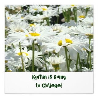 Going to College Farewell Party Invitations Daisy