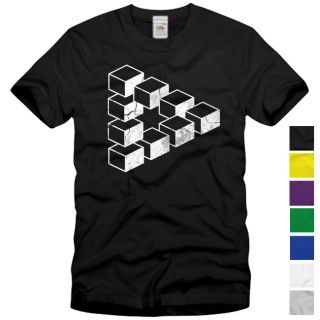 Cube Vintage T Shirt The Big Bang Theory Sheldon Escher Cooper Penrose