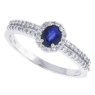 Ring mit Diamanten, 0,44 ct, in 14 kt Weißgold 52 Schmuck