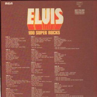 LP BOXElvis Presley,100 Super Rocks(RARE, W POSTER)[NM] (Rca Records